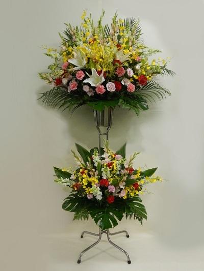 画像1: お祝い用スタンド花・2段タイプ