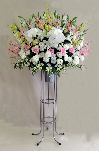 画像1: 葬儀用スタンド花